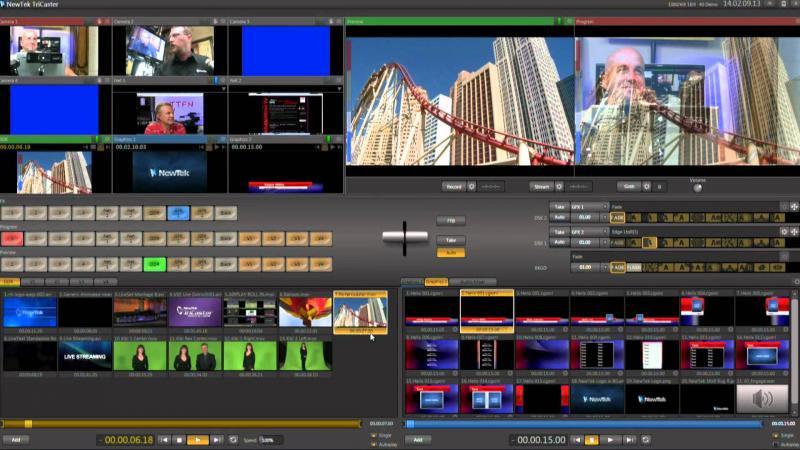 NewTek TriCaster transmisja na żywo