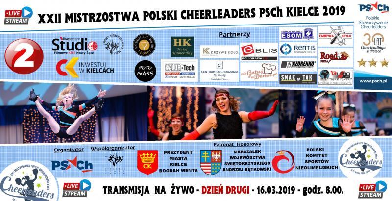 XXII Mistrzostwa Polski Cheerleaders PSCh Kielce 2019