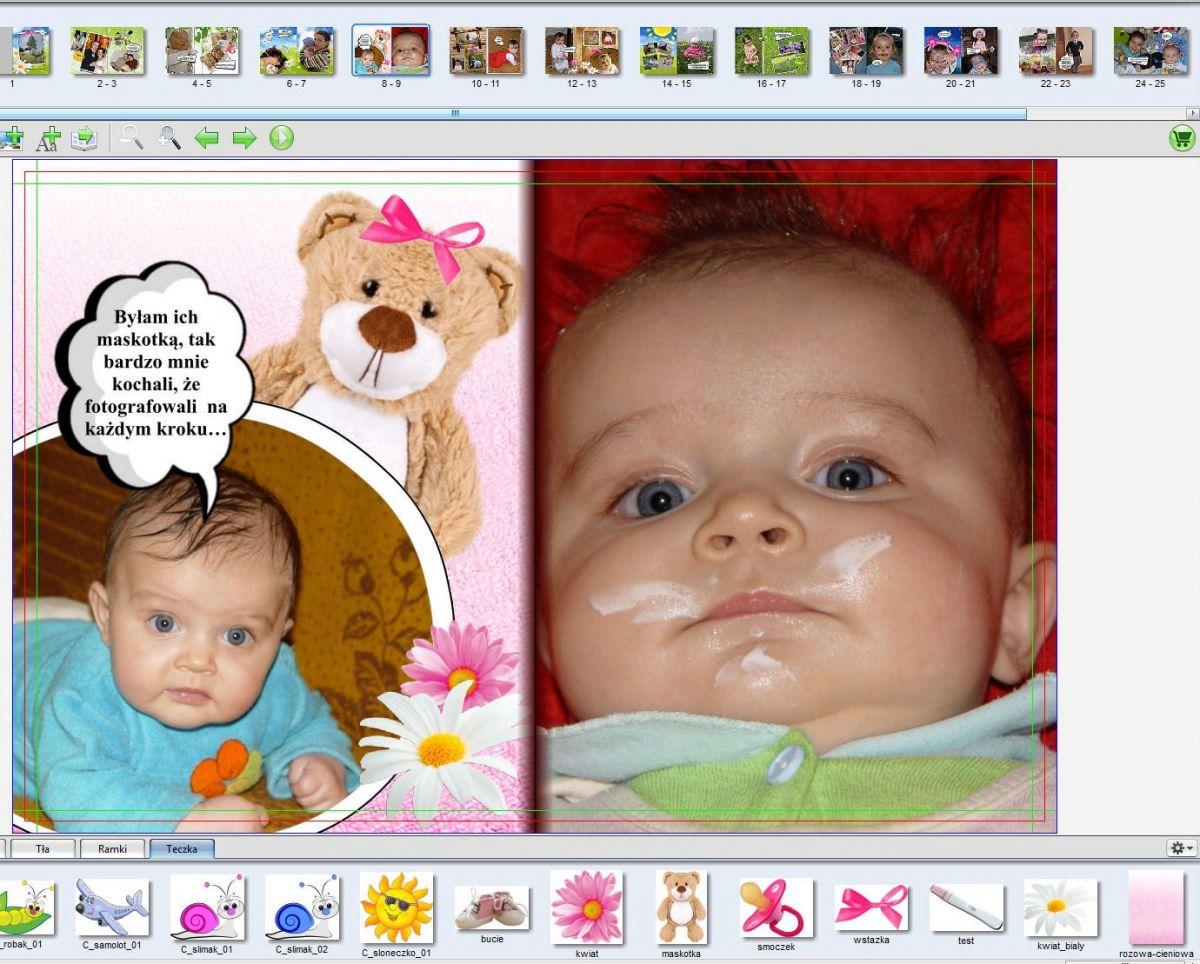 Strona 8-9 foto książka dla dziecka